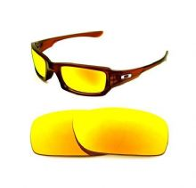 NEW POLARIZED CUSTOM FIRE RED LENS FOR OAKLEY FIVES SQUARED SUNGLASSES
